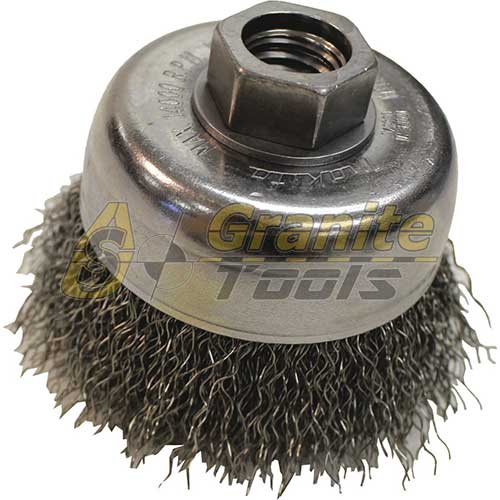 "Makita 3"" Crimped Wire Cup Brush 5/8""-11 743205-6"